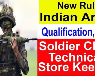Soldier Clerk/SKT Selection Procedure and Eligibility Criteria Indian Army