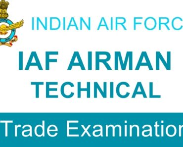 Indian Air Force List of Group X Trades Mechanical/ Electrical, Electronics, IT Stream