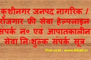 निःशुल्क सेवा सहायता कुशीनगर हेल्पलाइन Kushinagar Helpline Number kushinagar.nic.in Toll Free Tatkal Seva