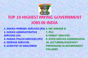 TOP 10 HIGHEST PAYING GOVT JOBS IN INDIA