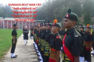 KUMAON REGIMENT: WAR CRY WITH MEANINGS