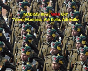 MADRAS REGIMENT- WAR CRY WITH MEANINGS