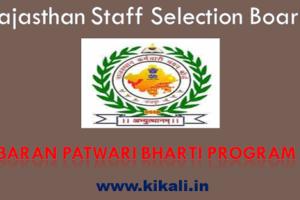 बारां पटवारी भर्ती 2021 Baran Patwari Bharti Program 2021