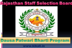 दौसा पटवारी भर्ती 2021 Dausa Patwari Bharti Program 2021