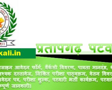 प्रतापगढ़ पटवारी भर्ती 2021 Pratapgarh Patwari Bharti Program 2021