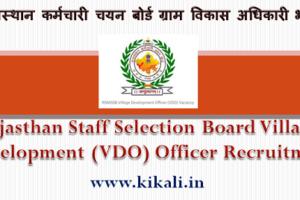 उदयपुर ग्राम विकास अधिकारी भर्ती 2021 Udaipur VDO Bharti Program 2021