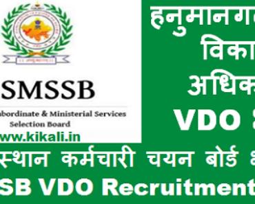 हनुमानगढ़ ग्राम विकास अधिकारी भर्ती 2021 Hanumangarh VDO Bharti Program 2021