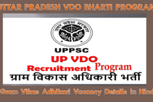 फैज़ाबाद ग्राम विकास अधिकारी भर्ती 2021 Faizabad VDO Vacancy